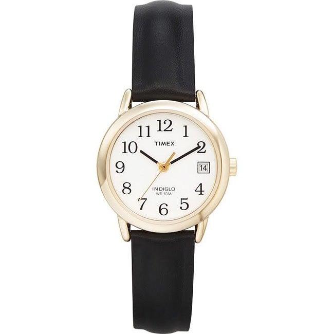 timex s t2h341 easy reader black leather