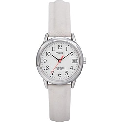 Timex Women's T2H391 Easy Reader White Leather Strap Nurse's Watch