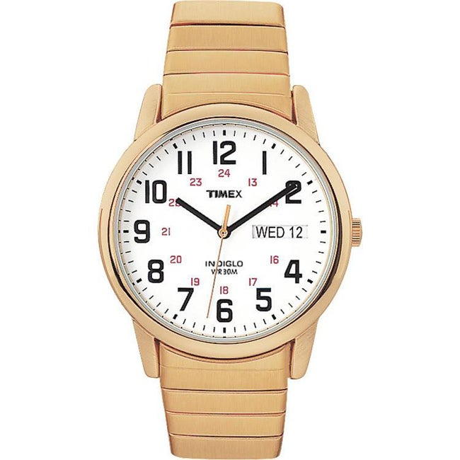 Timex Men's T20471 Easy Reader Goldtone Stainless Steel Expansion Band Watch