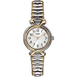 Timex Women's T21854 Elevated Classics Stainless Steel Expansion Band Watch