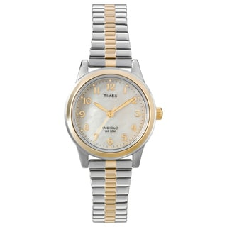 Timex Women's T2M828 Elevated Classics Dress Stainless Steel Expansion Band Watch