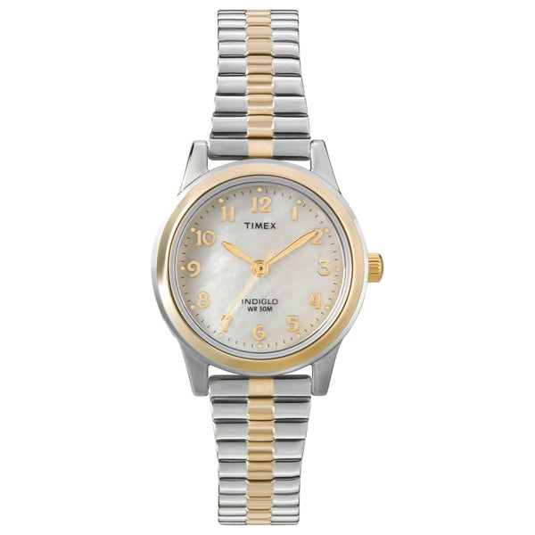 Timex Women's T2M828 Stainless Steel Elevated Classics Dress Expansion Bracelet Watch