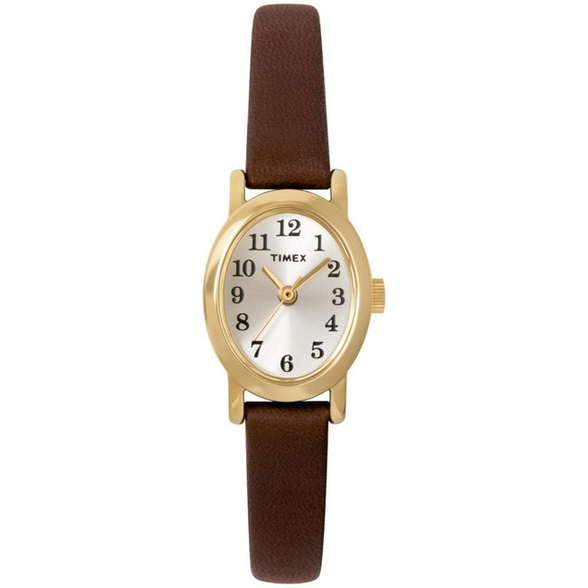 Timex Women's T2M567 Cavatina Brown Leather Strap Watch