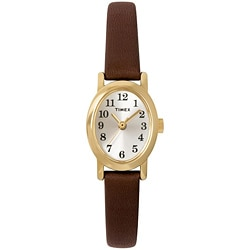 Timex Women's T2M567 Cavatina Brown Leather Strap Watch