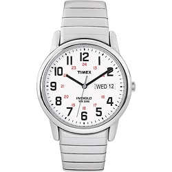 Timex Men's T2N091 Easy Reader Stainless Steel Expansion Band Watch