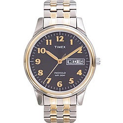 Timex Men's T2N093 Elevated Classics Dress Stainless Steel Expansion Band Watch