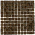SomerTile 12x12-in Reflections Square 1-in Empire Glass Mosaic Tile Pack of 10