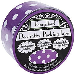 Fancy That Purple Polka Dot 25-yard Decorative Packing Tape Roll