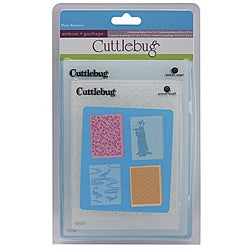 Cuttlebug Plum Blossom Embossing Folders (Set of 4)