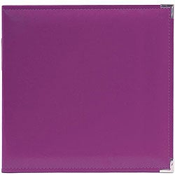 We R Memory Keepers Faux-Leather Plum Three-Ring Binder with Sewn Edges