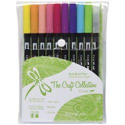 Tombow Jellybean Dual Brush Set (Pack of 10)