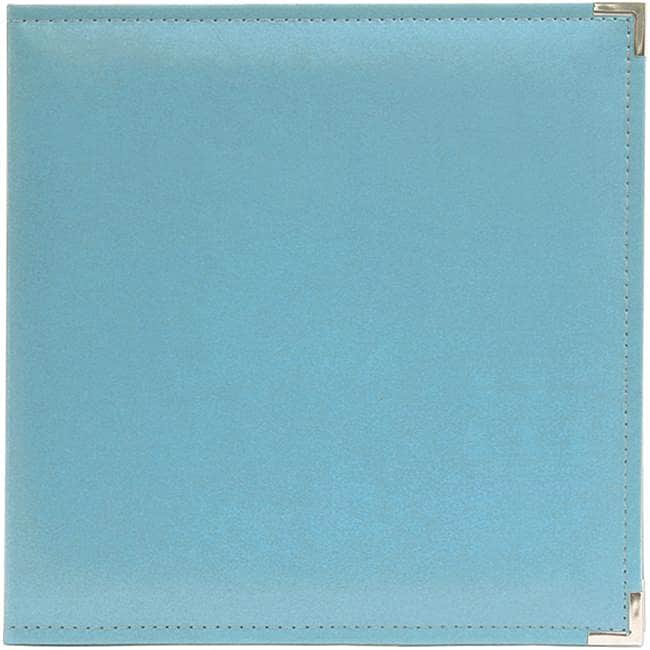We r memory keepers faux leather aqua 3 ring binder for American crafts 3 ring scrapbook album binder