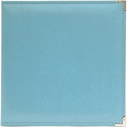 We R Memory Keepers Faux Leather Aqua 3-ring Binder
