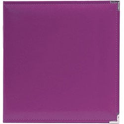 We R Memory Keepers Faux Leather Plum 3-ring Binder