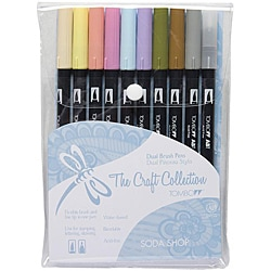Tombow Dual Brush Soda Shop Marker Set (Pack of 10)