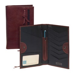 Tour One Women's Brown Leather Travel Wallet