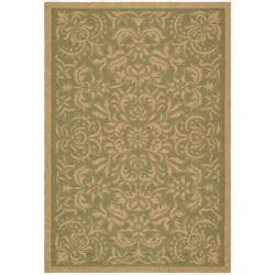 Indoor/Outdoor Green/Natural Rectangle Rug (2'7