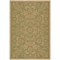Safavieh Indoor/Outdoor Green/Natural Rectangle Rug (2'7