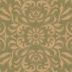 Safavieh Indoor/ Outdoor Green/ Natural Geometric Rug (7'10 x 11')