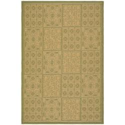 Indoor/ Outdoor Green/ Natural Rug (9' x 12')