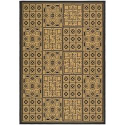 "Safavieh Large Indoor/Outdoor Black/Natural Rug (6'7"" x 9'6"")"