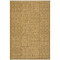 Safavieh Indoor/ Outdoor Gold/ Natural Rug (9' x 12')