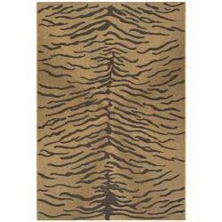 Safavieh Indoor/Outdoor Gold/Natural Tiger Pattern Rug (5'3 x 7'7)