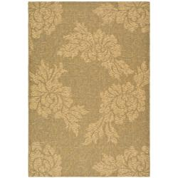 Indoor/Outdoor Gold/Natural Rectangular Rug (9' x 12')