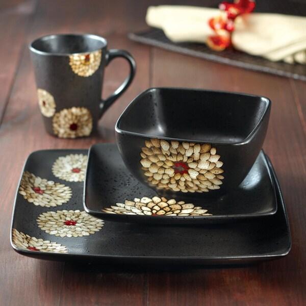 American Atelier Asiana White 16-piece Dinnerware Set