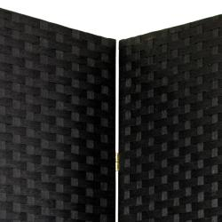 Woven Fiber 4-panel 7-foot Room Divider (China)