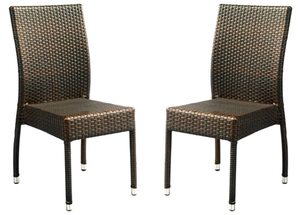 Safavieh Hamptons Bay Wicker Stackable Outdoor Chairs Set of 2