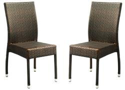 Safavieh Hamptons Bay Wicker Stackable Outdoor Chairs (Set of 2)