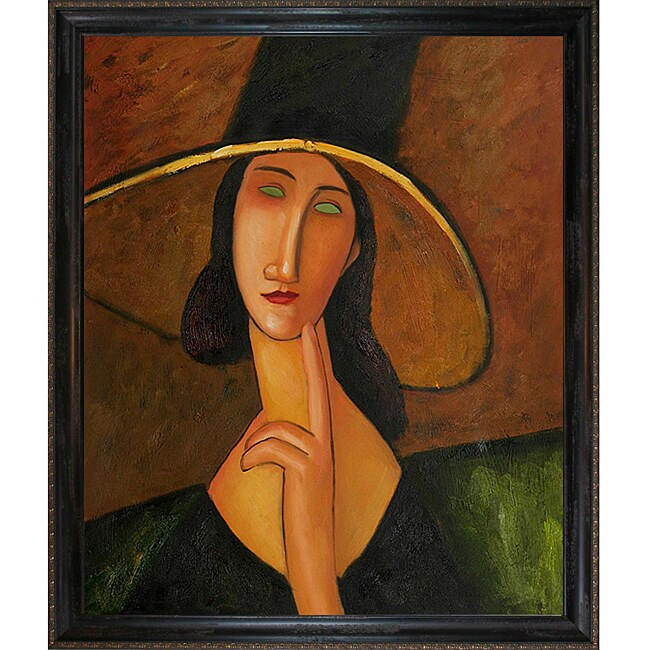 Amedeo Modigliani 'Portrait of Woman in Hat' Canvas Art