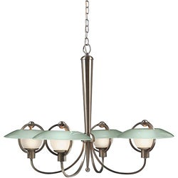 4-light Nickel Chandelier