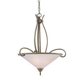 3-light Brushed Nickel Inverted Pendant