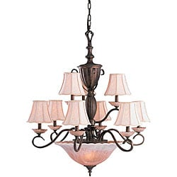 Legacy Bronze 12-Light 2-Tier Chandelier