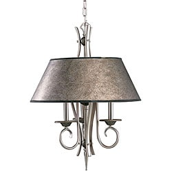 3-light Tuscan Gold/ Pewter Pendant