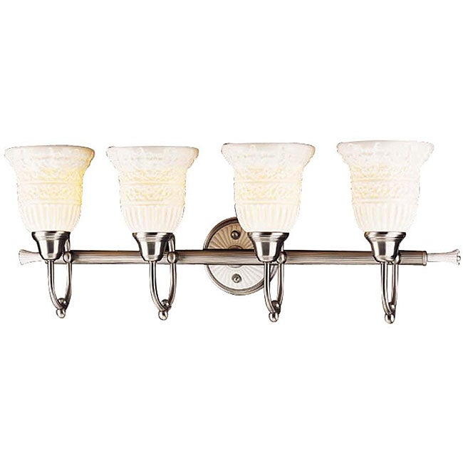 4-light Antique Pewter Vanity Light
