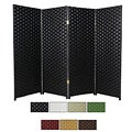Woven Fiber 4-foot 6-panel Room Divider (China)