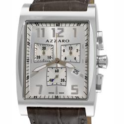 Azzaro Men's '100 Azzaro Chrono' Silver Face Chronograph Watch