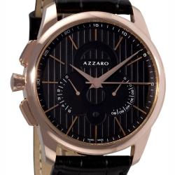 Azzaro Men's 'Legend Chrono' Black Face Retrograde Chronograph Watch