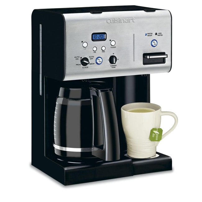Dual Coffee Maker Hot Water Dispenser : Cuisinart CHW-12 12-cup Programmable Coffeemaker with Hot Water System - 12992552 - Overstock ...