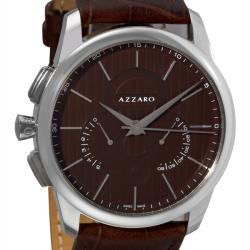 Azzaro Men's 'Legend Chrono' Havana Leather Strap Retrograde Watch