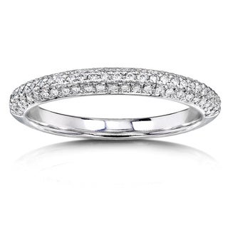 Annello 14k White Gold 1/4ct TDW Diamond Wedding Band (H-I, I1-I2)