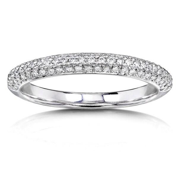 Annello 14k White Gold 1/4ct TDW Diamond Wedding Band (H-I, I1-I2)