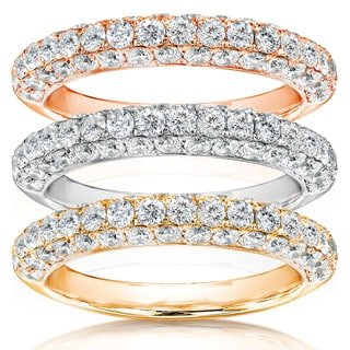 Annello 14k Gold 1ct TDW Diamond Wedding Anniversary Band (H-I, I1-I2)