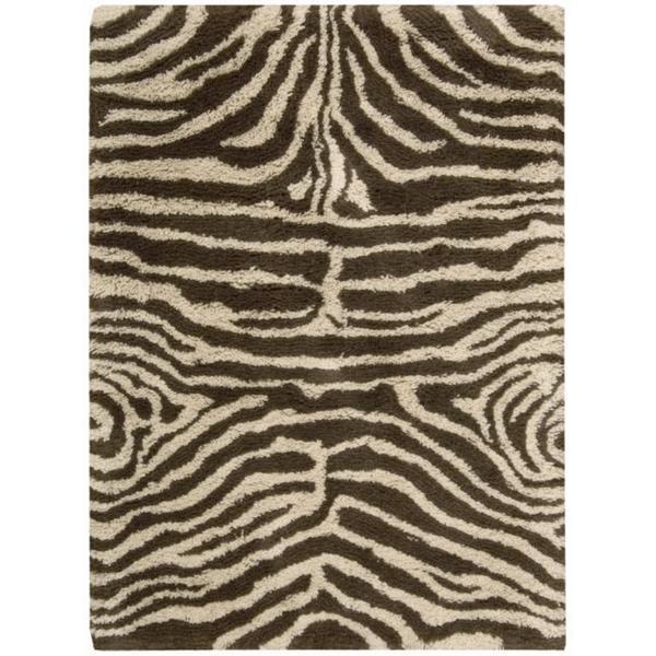 Nourison Splendor Hand-tufted Ivory Brown Rug (5' x 7')