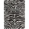 Nourison Splendor Hand-tufted Black/White Rug (7'6 x 9'6)