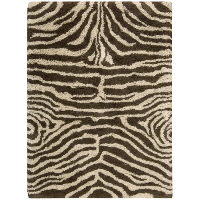 Nourison Splendor Hand-tufted Ivory Brown Rug (7'6 x 9'6)