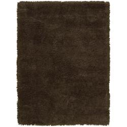 Nourison Splendor Hand-tufted Chocolate Rug (5' x 7')